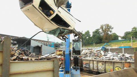 Scrap yard Stock Video Footage