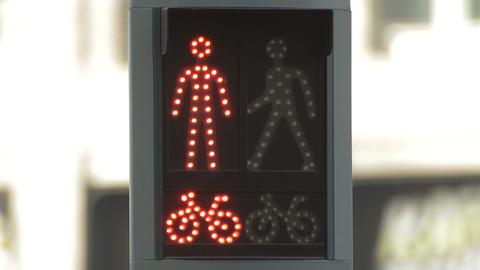Pedestrians signal Stock Video Footage