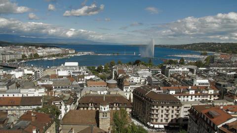 Geneva panorama Footage