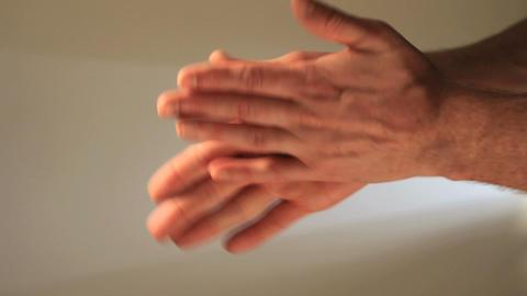Hands sanitizing Footage