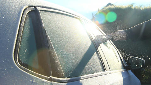 Car in winter Stock Video Footage