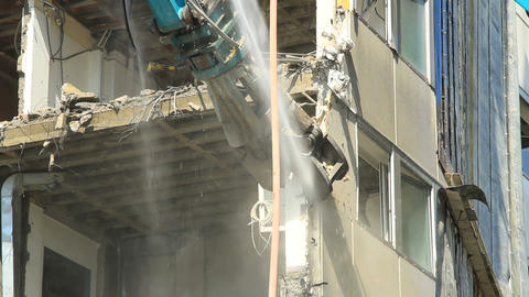 Demolition Stock Video Footage