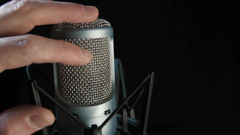 Studio Microphone Stock Video Footage