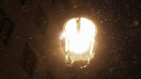 Snow in night Stock Video Footage