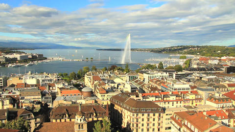 Geneva panorama Stock Video Footage