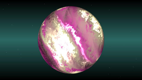 Pink planet Animation