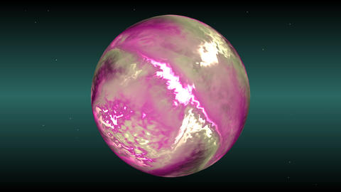 Pink planet Stock Video Footage