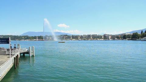 Geneva bridge Stock Video Footage