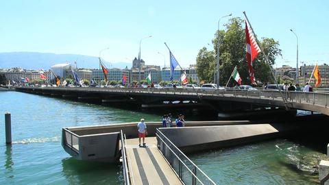 Geneva bridge Footage