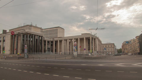 Russian State Library 4K in Moscow, Russia Stock Video Footage