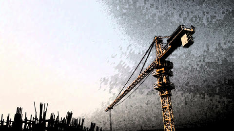 construction abstract Stock Video Footage