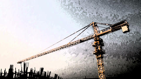 Construction Abstract stock footage