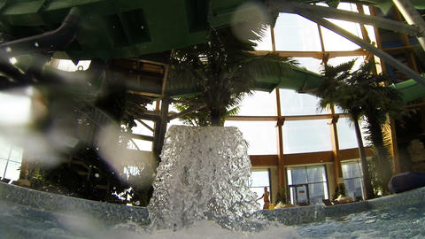 Fountain in the water Park Stock Video Footage