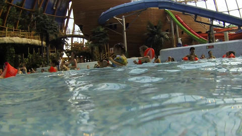 Children bathe in the water Park Footage