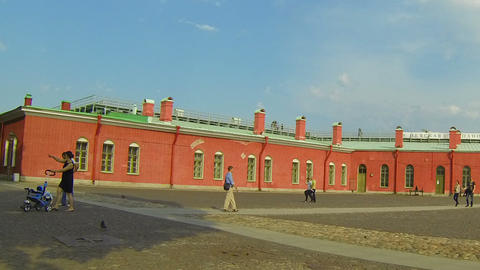 Bastion of the Peter and Paul fortress Stock Video Footage
