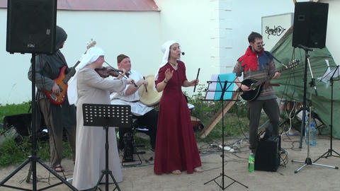 Folklore performance Stock Video Footage