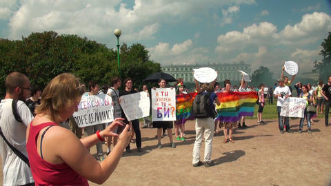 The gay parade and rally sexual minorities Footage