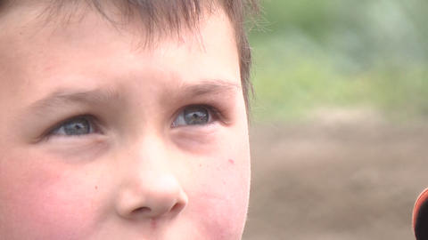 The boy's eyes Stock Video Footage