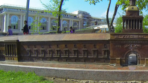 The layout of the Admiralty in St. Petersburg Stock Video Footage