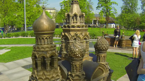 Model of the Church of the Savior on blood Stock Video Footage