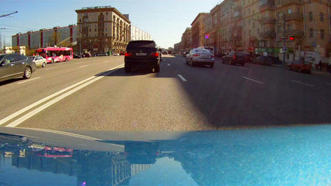 Travel on the Moscow avenues Footage