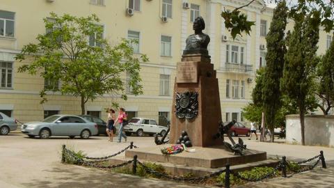 Monument to Peter Koshka in Sevastopol Stock Video Footage