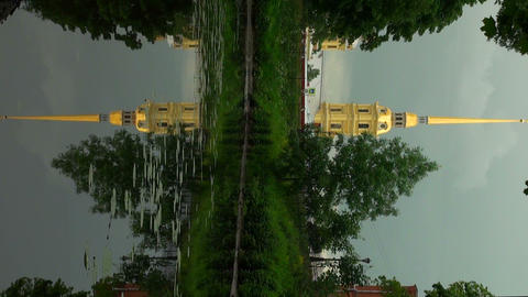 Peter and Paul fortress. The reflection in the wat Footage