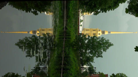Peter and Paul fortress. The reflection in the wat Stock Video Footage