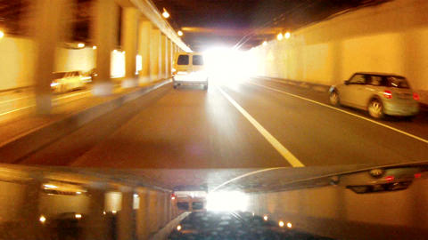 Journey under the ferroconcrete bridge Footage