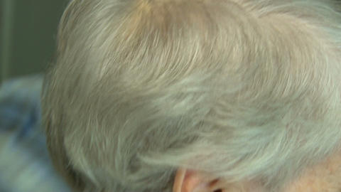 Combing of hair graying Stock Video Footage