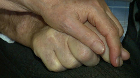 Hands of older people to stay Stock Video Footage