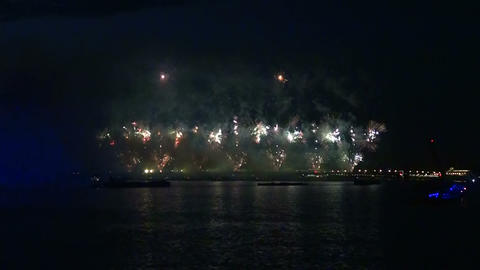 Fireworks over the Neva in St. Petersburg Stock Video Footage