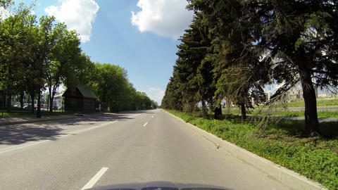 Driving on a highway outside the city Footage