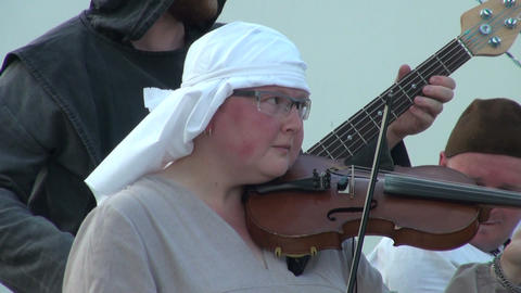 A woman plays the violin Stock Video Footage