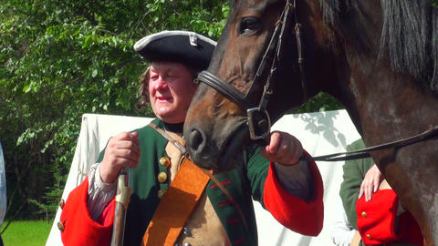 Sagittarius holds a horse Stock Video Footage