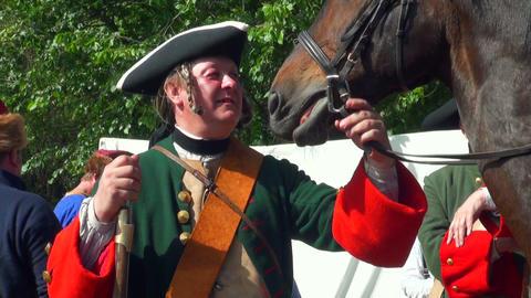 Sagittarius holds a horse Footage