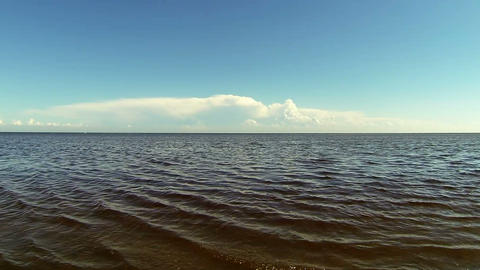 The coast of the Gulf Stock Video Footage