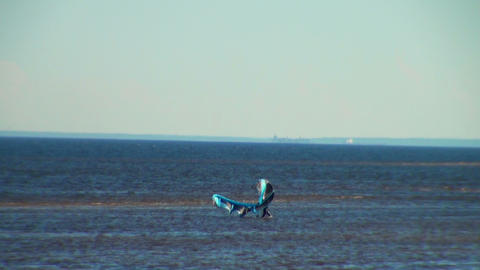 windsurfer is on the Bay Footage