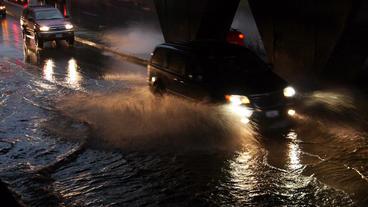 Toronto Storm Flooding 2 Stock Video Footage