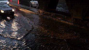 Toronto Storm Flooding 4 Stock Video Footage