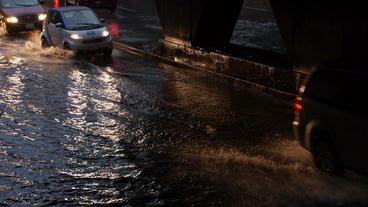 Toronto Storm Flooding 4 Footage