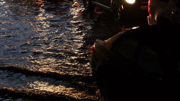 Toronto Storm Flooding 8 Stock Video Footage