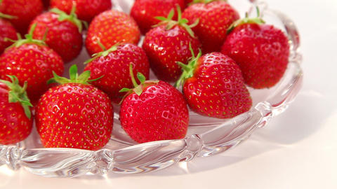 ripe strawberries - dolly shot of strawberry Stock Video Footage