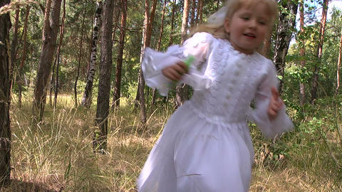 Girl walking in the park Stock Video Footage