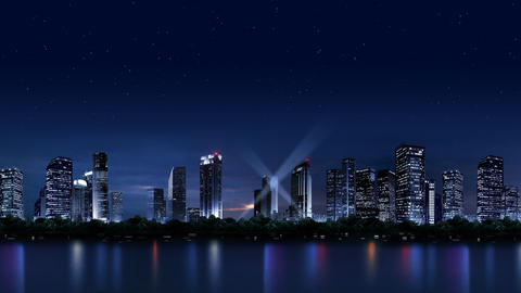 The night scenery of the city 059 Animation