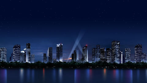 The night scenery of the city 059 Stock Video Footage