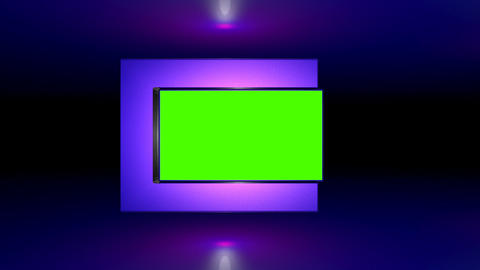 3d green screen (alpha) is moved Stock Video Footage