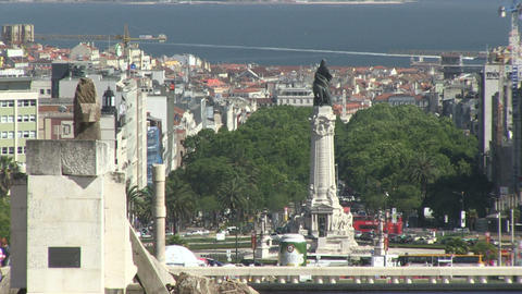Lisbon Avenue Liberdade Marques Stock Video Footage