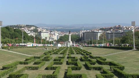Downtown Lisbon, Portugal Footage