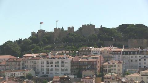 Castle Sao Jorge Stock Video Footage